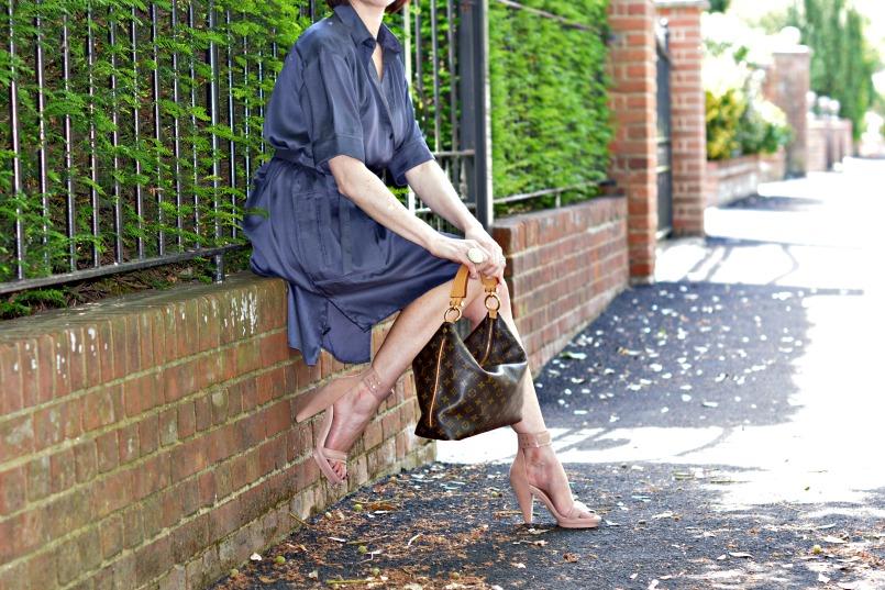 nicole farhi shirt dress melissa shoes louis vuitton bag