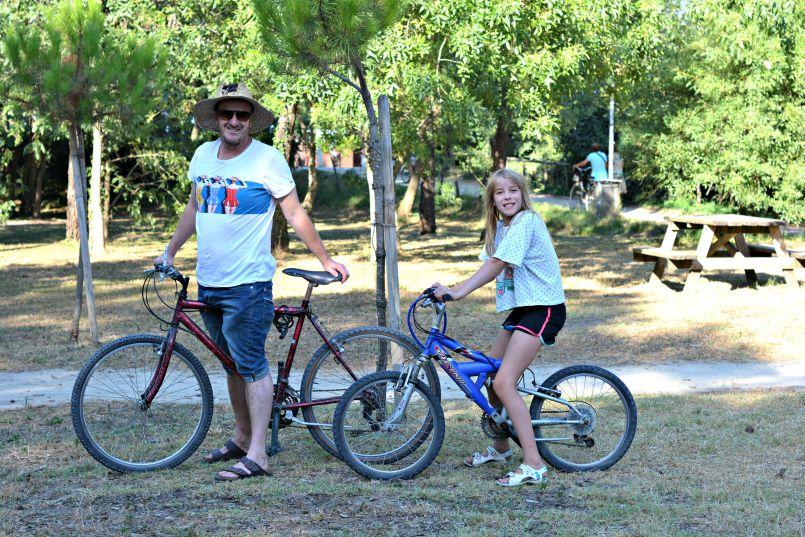 bikes on loan from hotel beau soliel   zadina   cesenatico