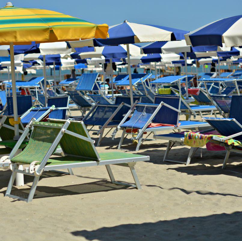 zadina beach umbrellas cesenatico italy