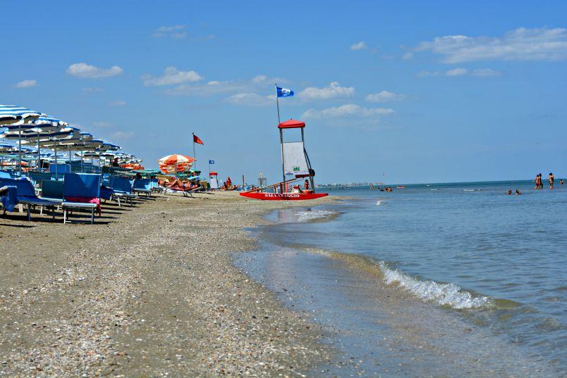 zadina beach on the adriatic coast of italy