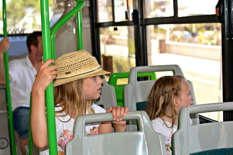 taking the local zadina bus to cesenatico town