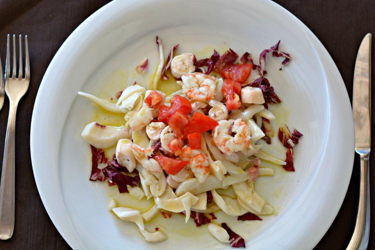 italian seafood salad   ristorante gabbiano   zadina cesenatico   italy