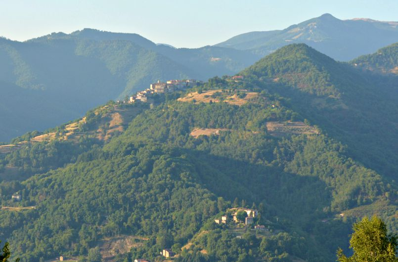 view of the hills from our villa in castelnuovo di garfagnana