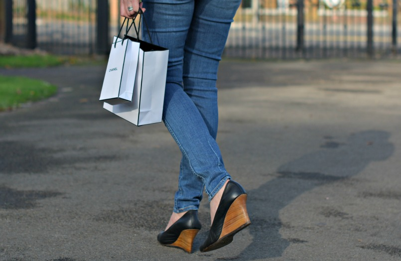Neuw Denim skinny jeans | Lanvin ballet high wedge shoes