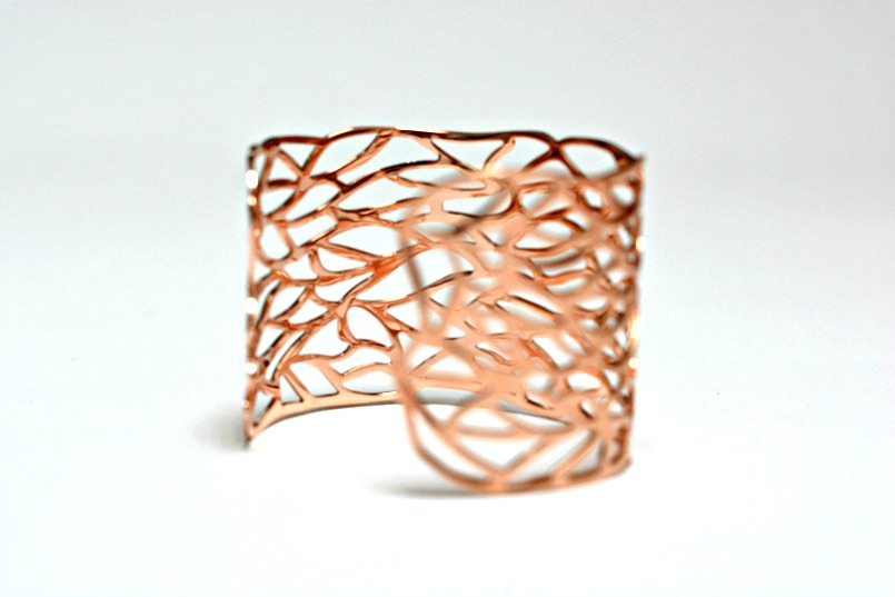 Eternal Collection Vogue Rose gold tone bangle