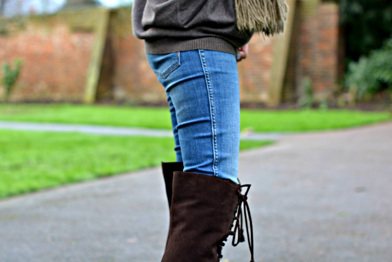 AllSaints Stepney over the knee boots