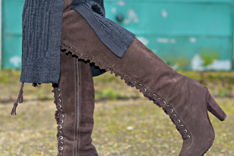 allsaints over the knee boots