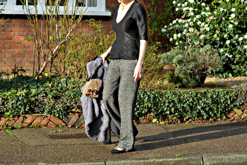 Burberry Prorsum top | Zara trousers | Jessica Buurman lace up flats | Gucci bag