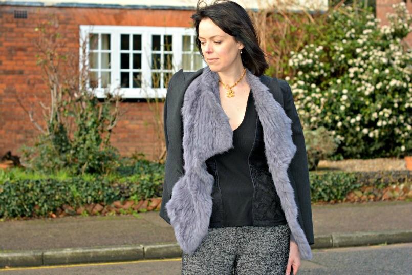 Burberry Prorsum top | Zara trousers