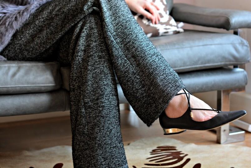 Zara trousers | Jessica Buurman lace up flats
