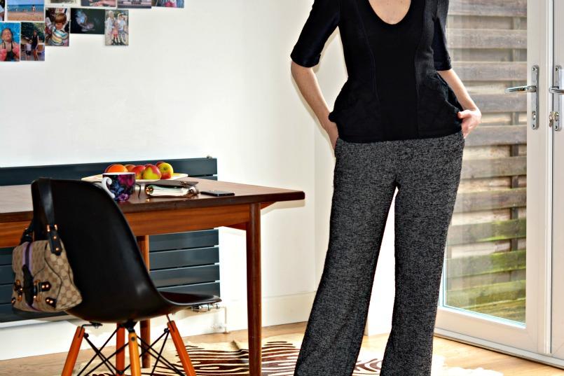 Burberry Prorsum top | Zara trousers | Jessica Buurman lace up flats