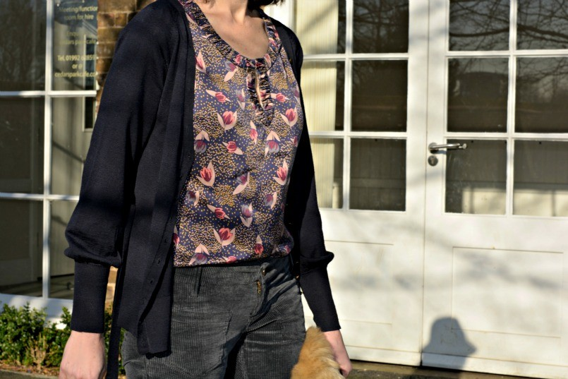 Boden top | Zara fur stole | French Connection