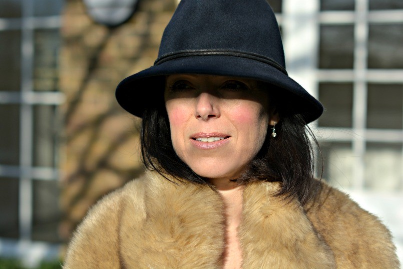 Laura Ashley Trilby | Zara fur stole