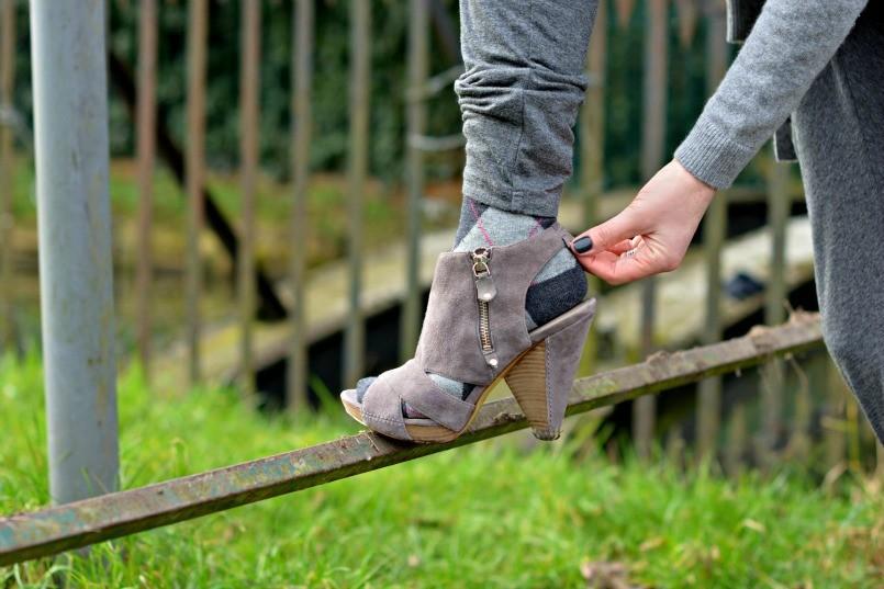 Sigerson Morrison sandals with socks