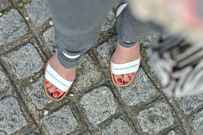 Whistles two part white block heel sandal