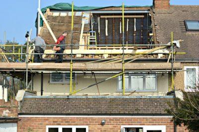 loft dormer construction exterior
