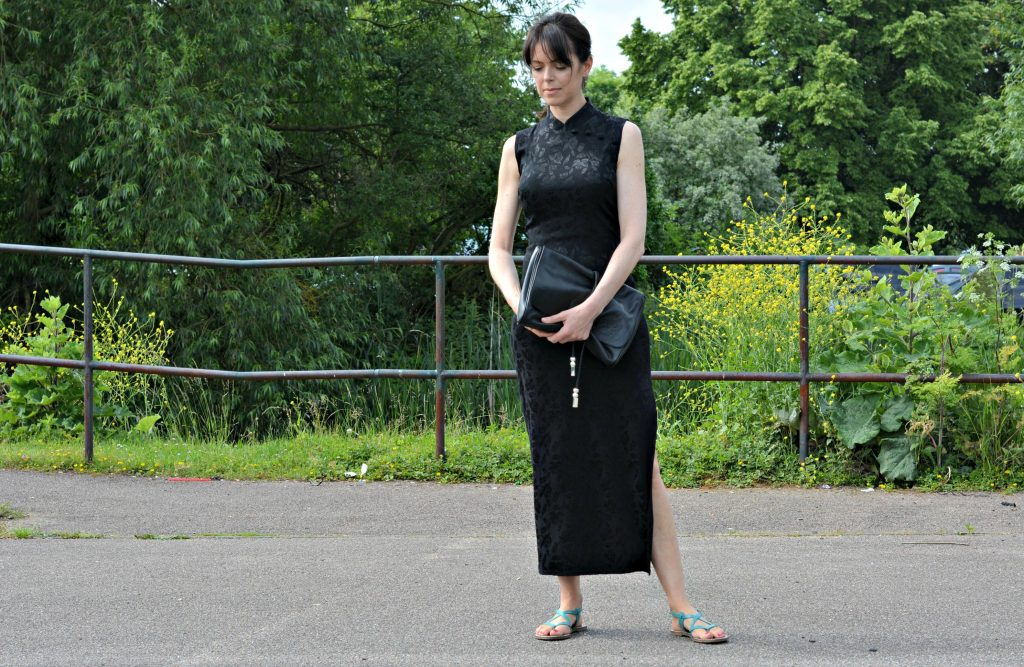 How to wear flat sandals with an LBD