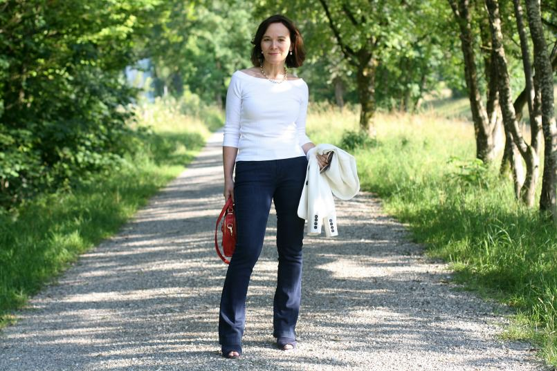 Notdressedaslamb Catherine - Over 40 Collective Marks and Spencer white top challenge