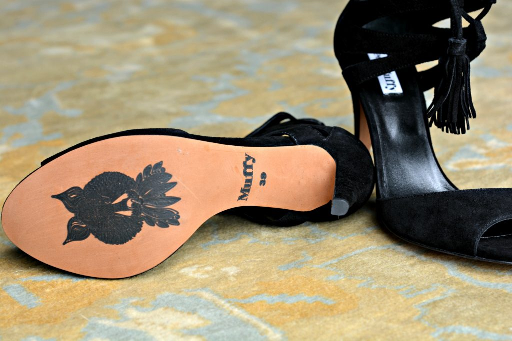 Ted & Muffy signature stamp on shoe soles