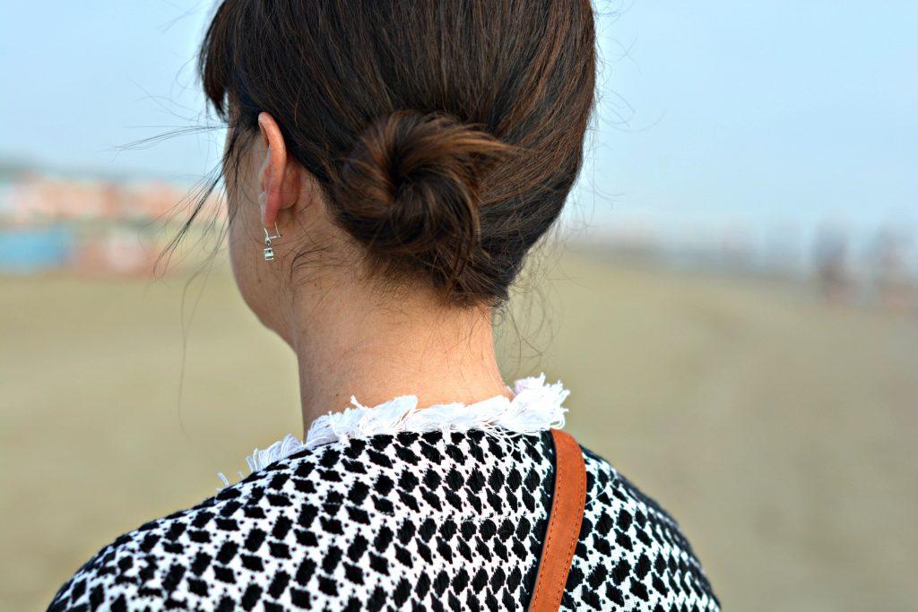 Make thin hair thicker for a bun using clip in hair