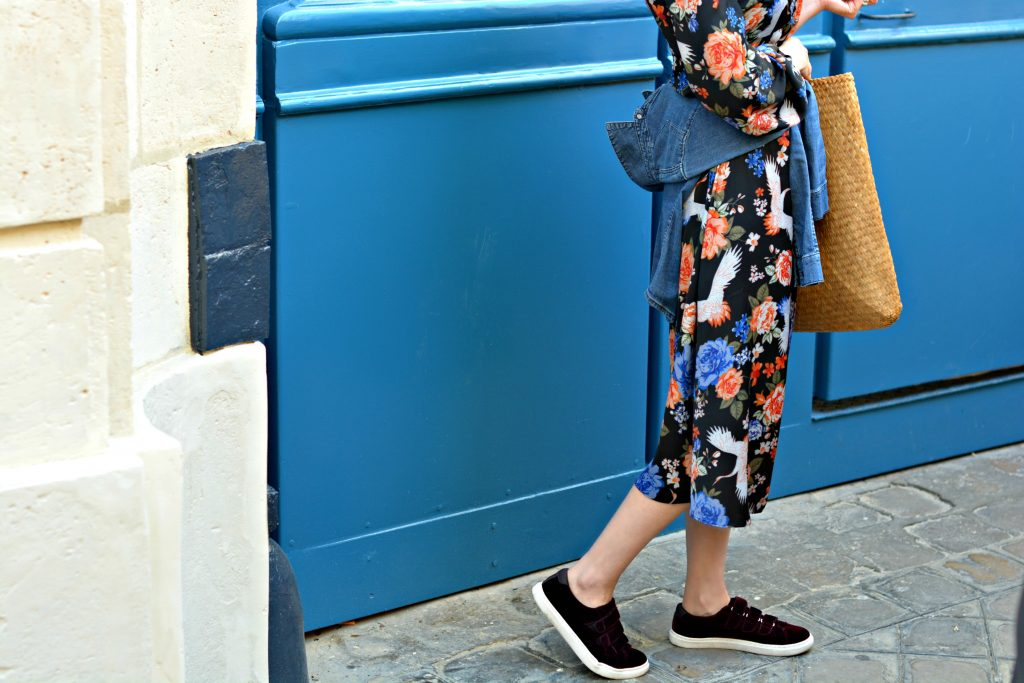 A long sleeved floral midi dress is perfect for going from day to night