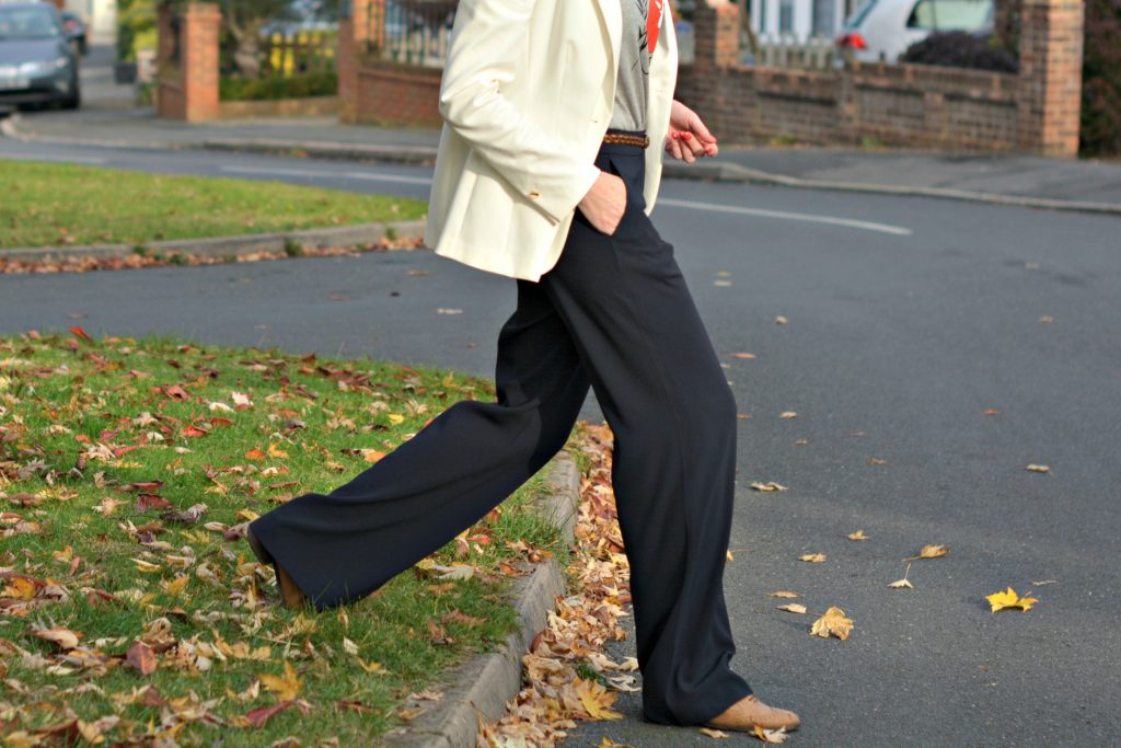 Winser London wide leg trousers with Dune brogues
