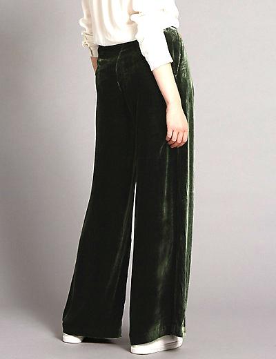 marks and spencer velvet trousers