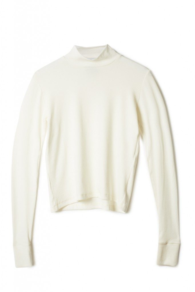 By Signe Long Sleeve Tee in Ribbed Ivory