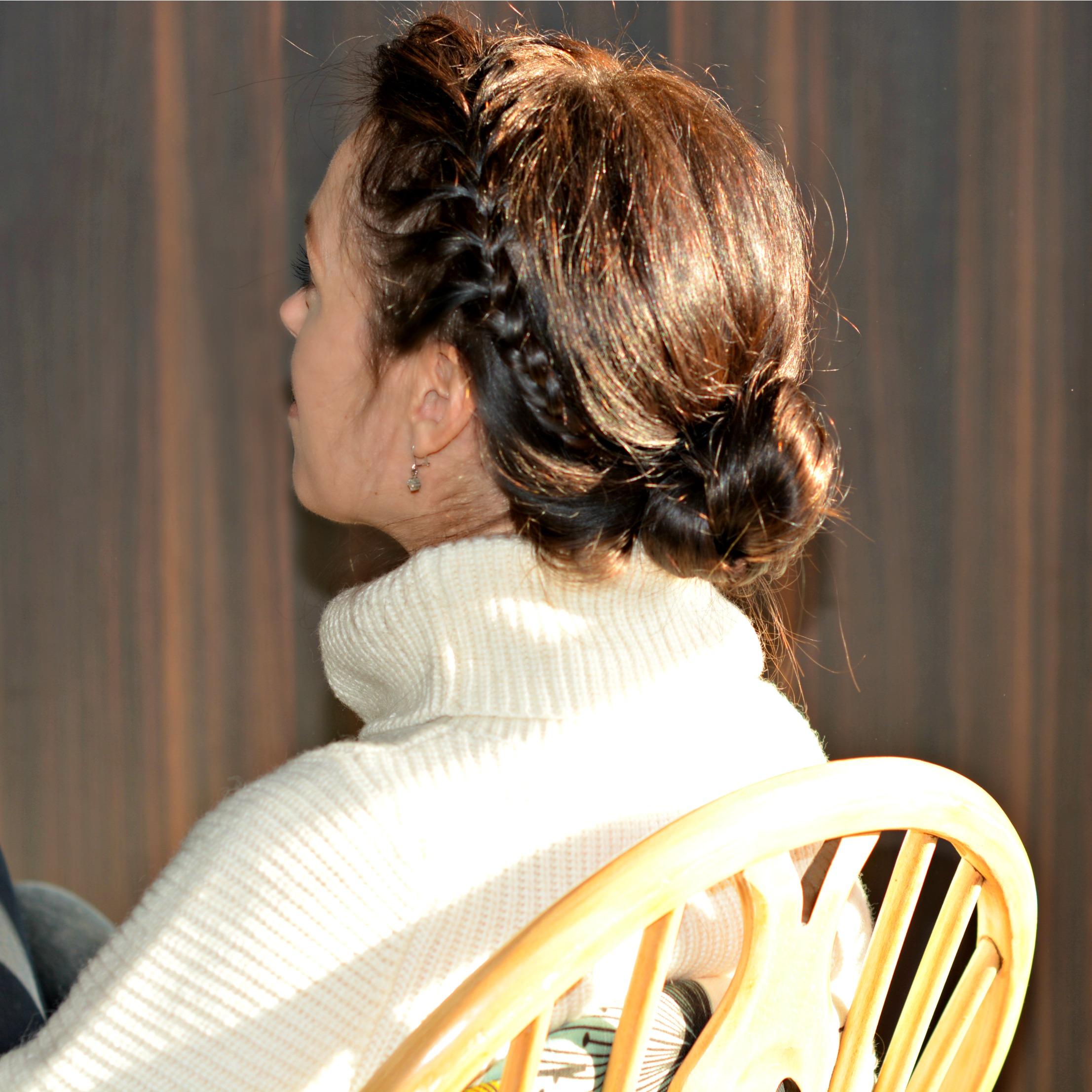 how to do a quick braid hair bun
