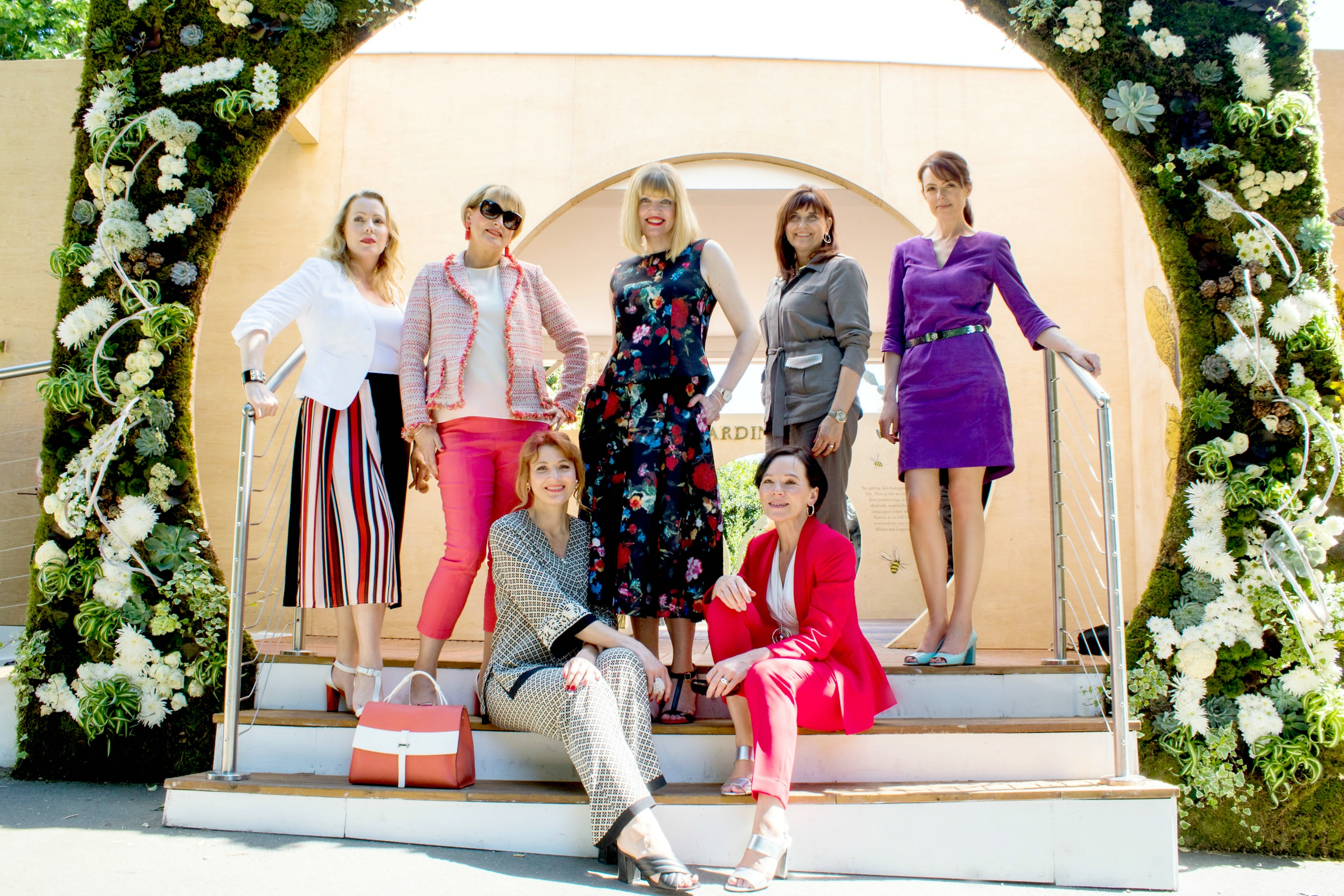 The over40collective at chelsea flower show courtesy of madeleine fashion