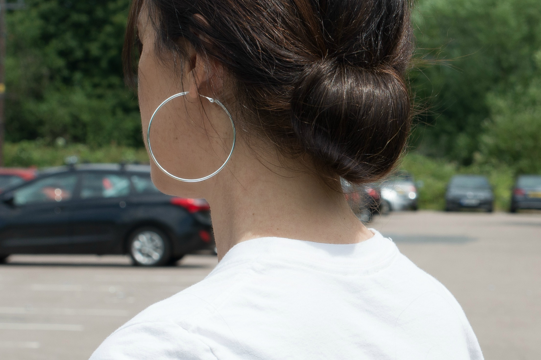 low chignon hair bun