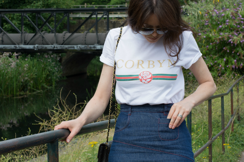 political-slogan-t-shirt-denim-skirt-fashion-retrochicmama