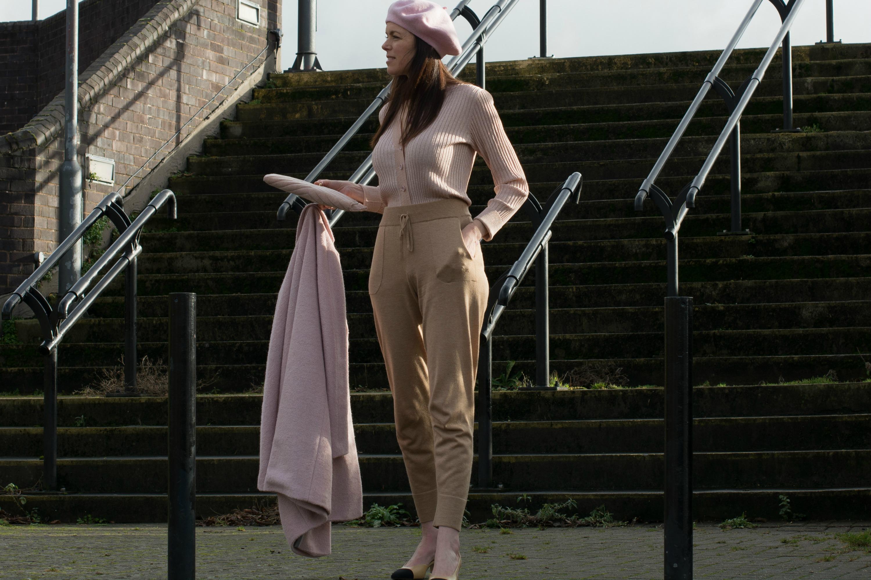 pink-topshop-beret-ganni-cardigan